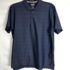 Adidas Youth Large Golf Climalite Navy Blue Polo